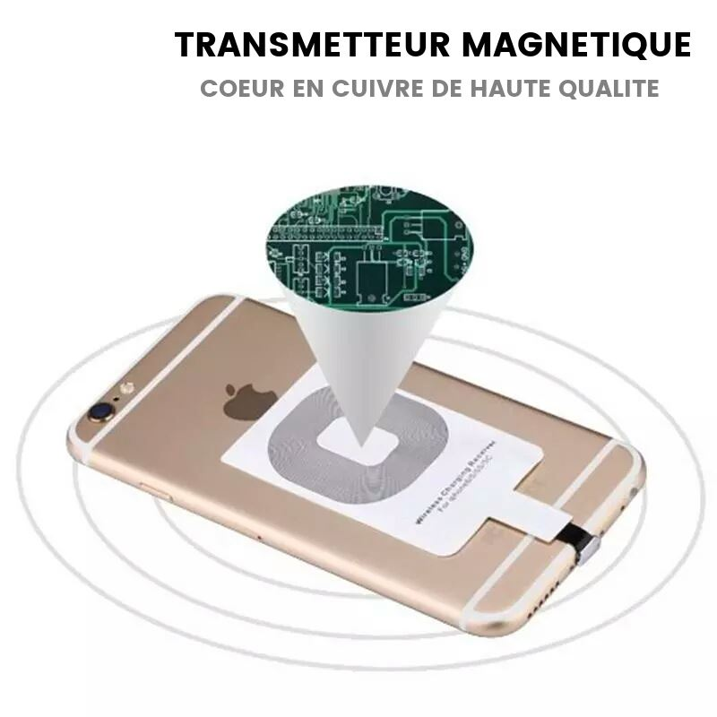 Chargeur Induction magnetique en cuivre iPhone